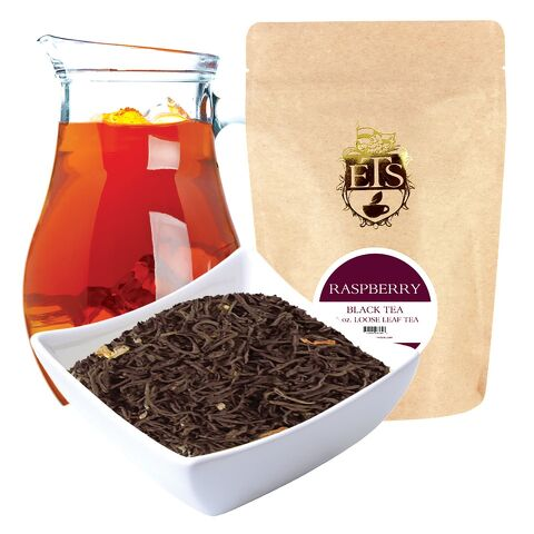 Raspberry Flavored Black Corse Cut Tea
