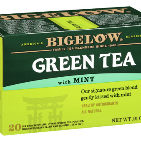 Green Tea with Mint Tea Bags
