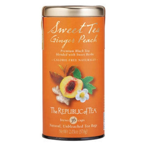 SWEET TEA GINGER PEACH BLACK TEA BAGS