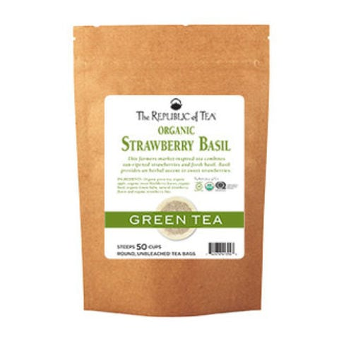 STRAWBERRY BASIL GREEN TEA BAGS