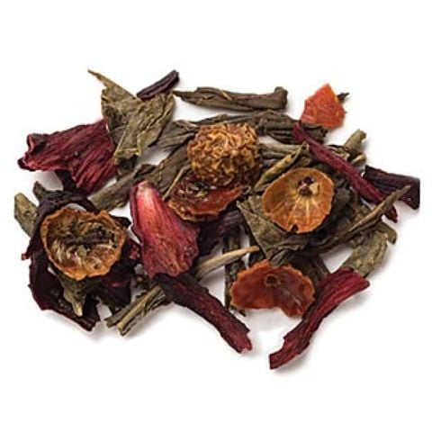 DECAF POMEGRANATE GREEN TEA FULL-LEAF