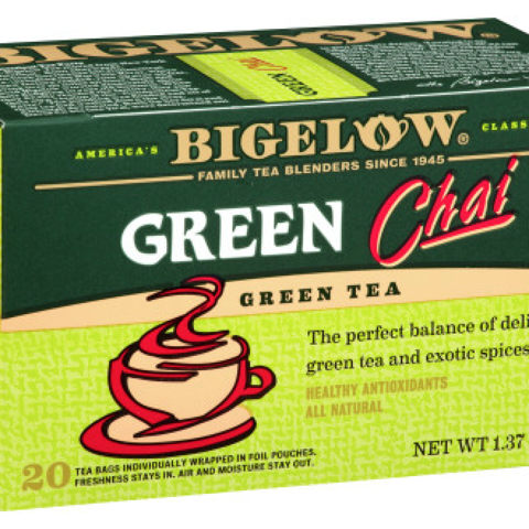 Green Tea Chai tea bags