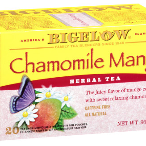 CHAMOMILE MANGO HERBAL TEA BAGS