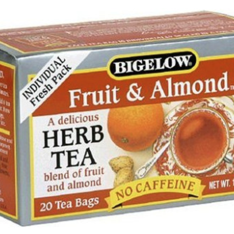 FRUIT AND ALMOND HERBAL TEA BAGS