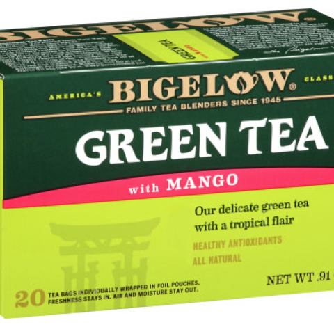 GREEN TEA WITH MANGO TEA BAGS