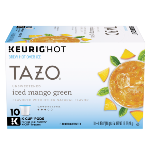 Unsweetened Iced Mango Green K-cup Pods