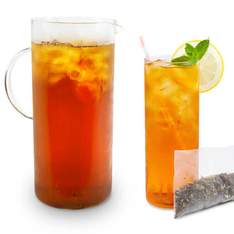 white peach iced tea